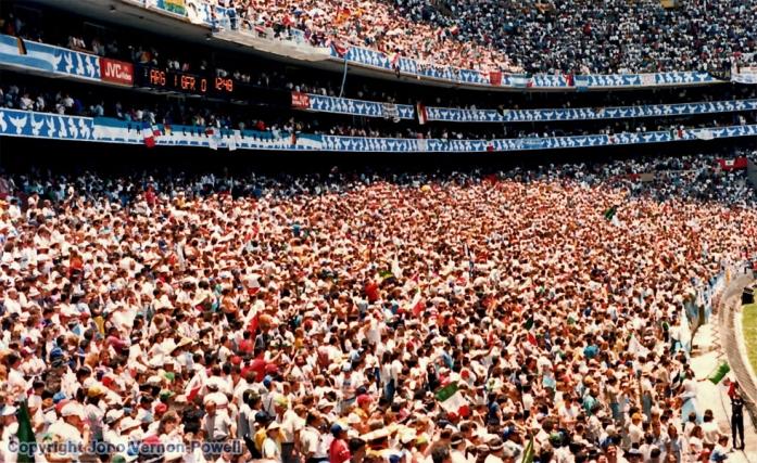 1986 World Cup Final - Azteca Stadium, Mexico.