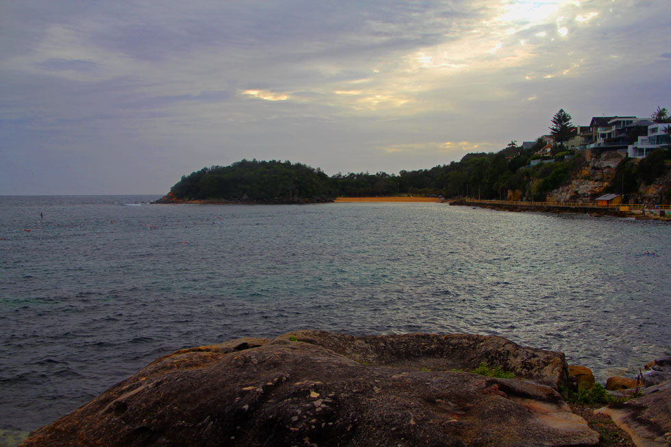 Shelly Beach across Cabbage Bay from Manly Beach rocks.