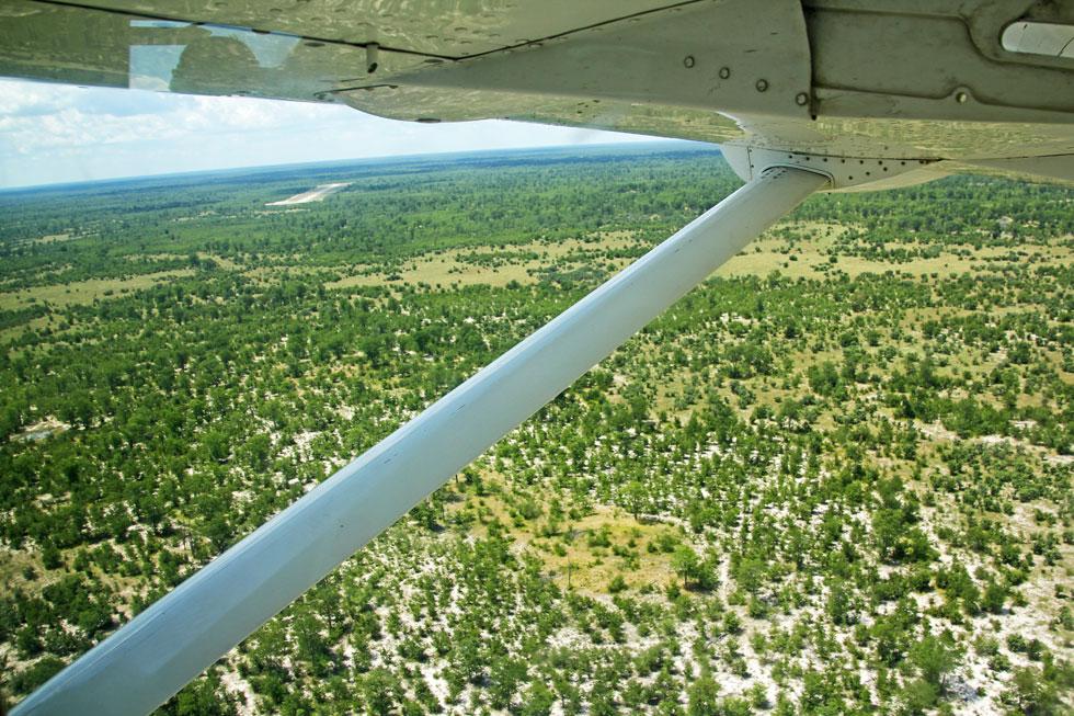 Turning in towards bush safari landing strip.