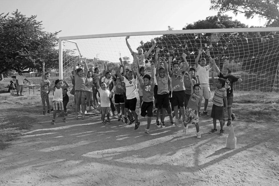 Photo bombing last week's NLM Football Club.