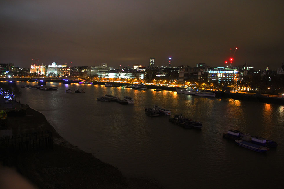 Oxo Tower view - from free access Public Viewing Gallery