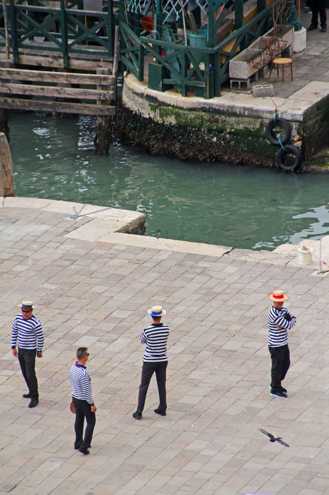 Gang of gondoliers.