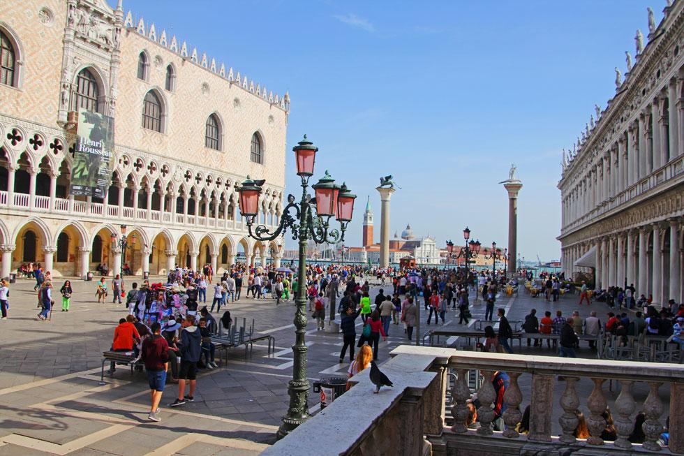 St Mark's Square view across to San Giorgia Maggiore