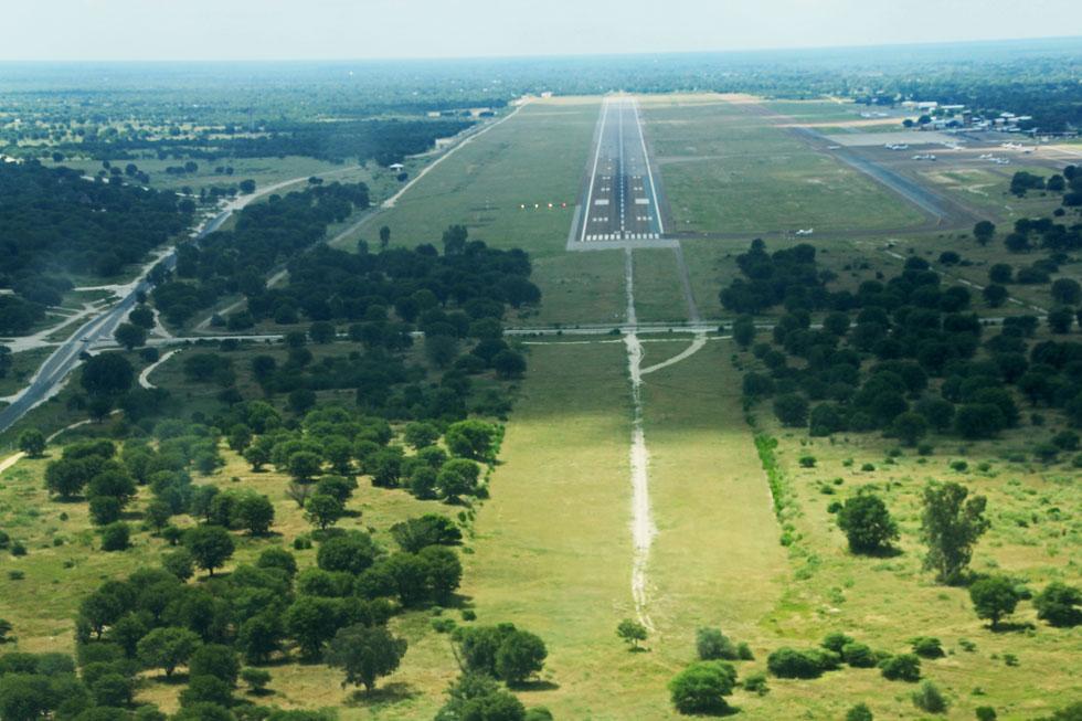Maun Airport, Botswana - old school Africa style