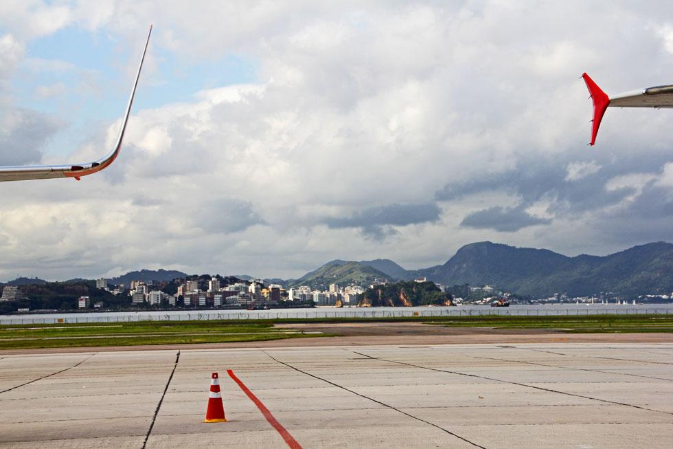 Rio de Janeiro-Galeao International airport - set between the land and the sea