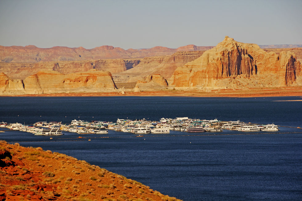 Lake Powell, USA. Man-made, with huge tourism benifit. - Ref. my blog: