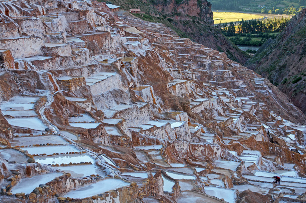 Centuries old water system, feeding high Andes mountain salt ponds.