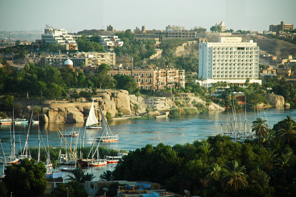 River Nile - Egypt's sole water source to farmers, hotels and cruise boats.