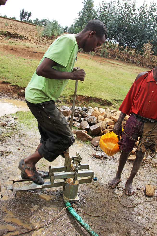 Peddle-power water pump. Ethiopia Highlands style.