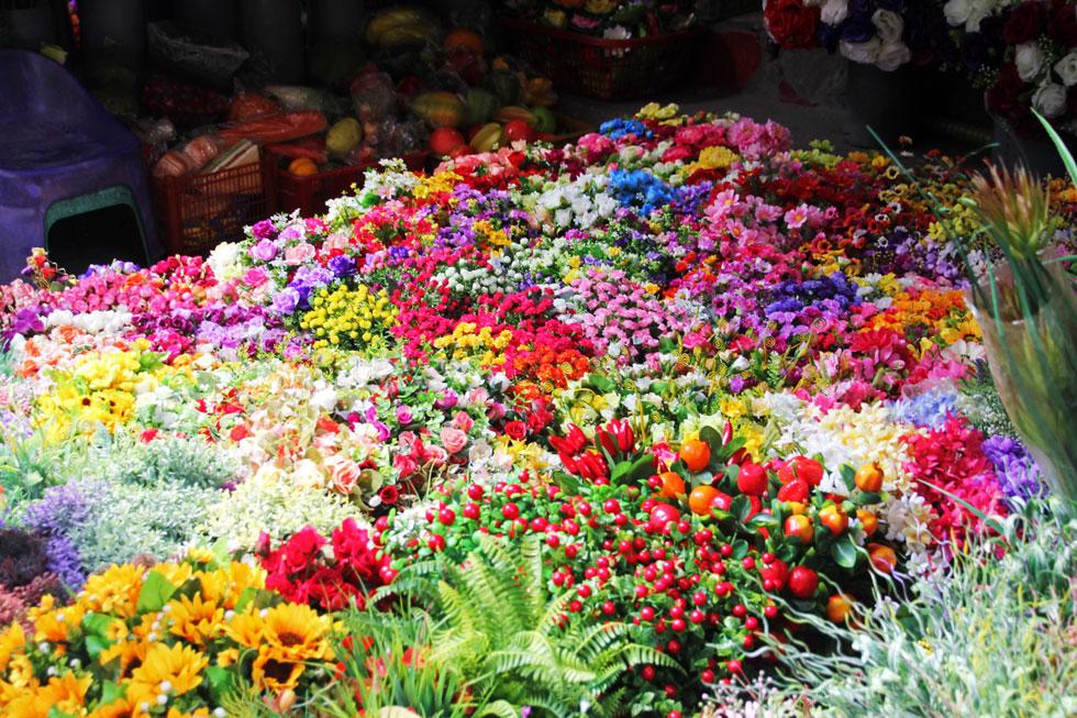 Plastic flower stand.